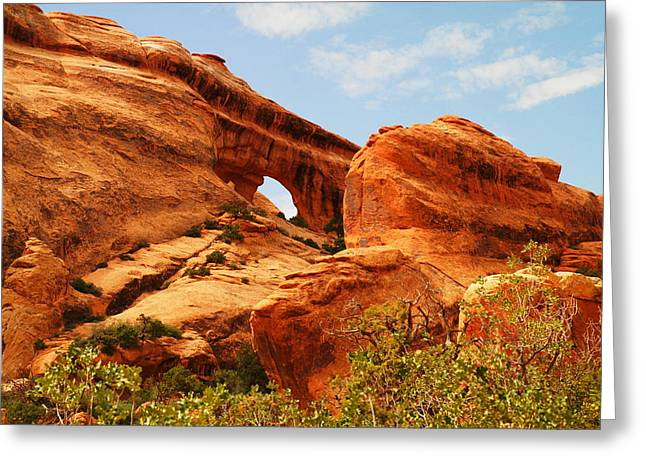 Monolith Greeting Cards - One Arch  Greeting Card by Jeff  Swan
