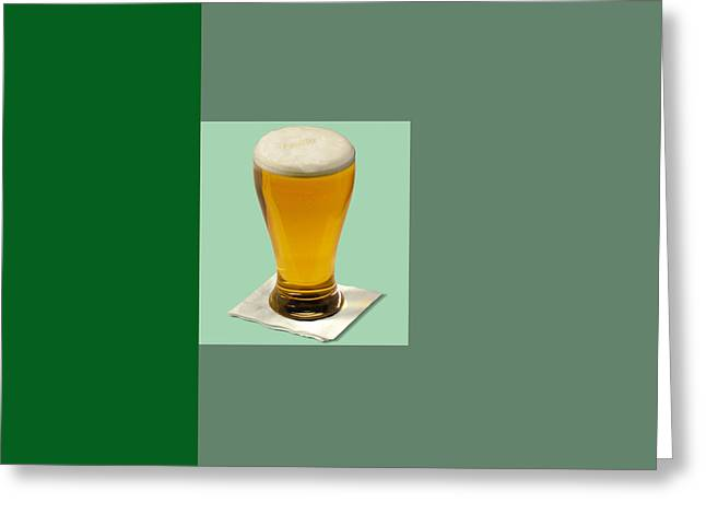 Installation Art Greeting Cards - First Beer on The Wall Greeting Card by Tina M Wenger