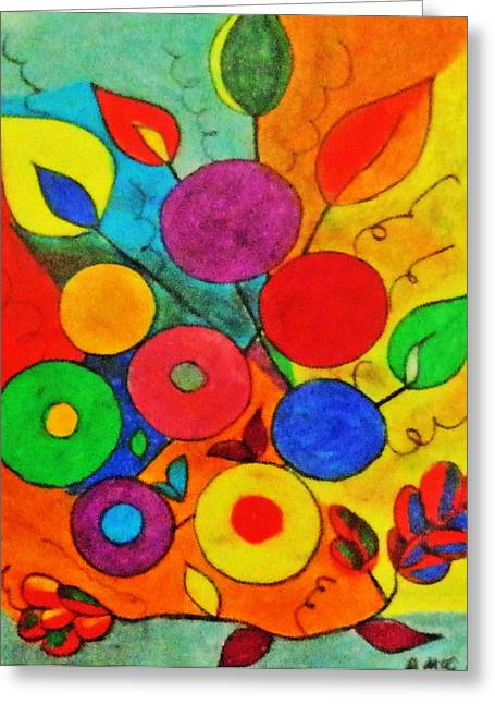 Vibrant Pastels Greeting Cards - One day I was bored..... Greeting Card by Ang Q