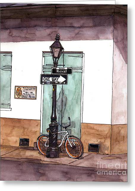 Recently Sold -  - French Doors Greeting Cards - One Day Greeting Card by John Boles