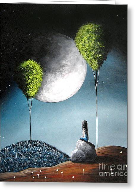 Large Moon Greeting Cards - One Day Shell See You In Heaven by Shawna Erback Greeting Card by Shawna Erback