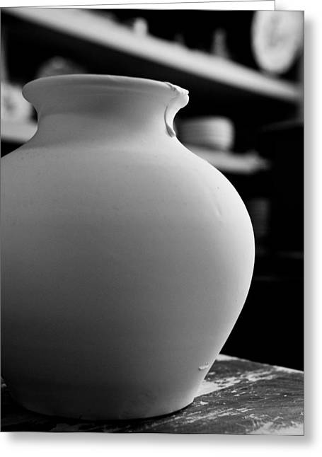 Pottery Pitcher Greeting Cards - One earthenware jug  Greeting Card by Joseph Amaral