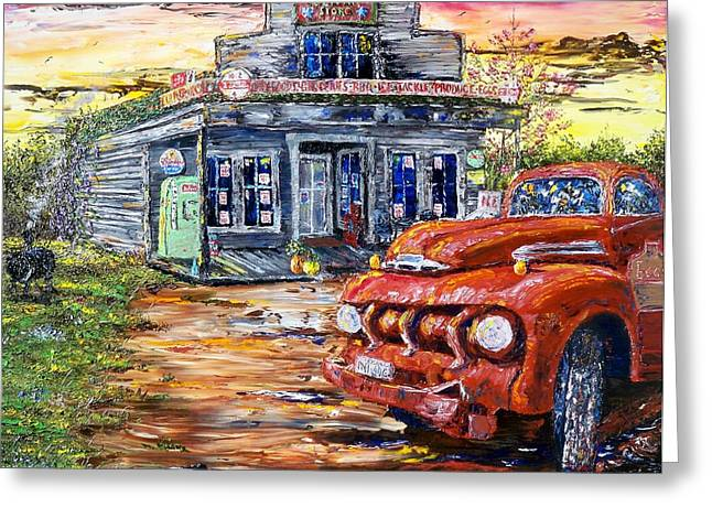 40s Paintings Greeting Cards - One Evening in East Texas Greeting Card by Terry Campbell