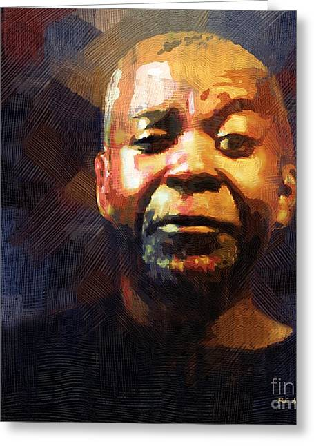 African-american Digital Greeting Cards - One Eye in the Mirror Greeting Card by RC DeWinter