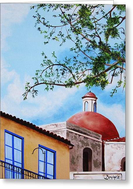 Dominica Alcantara Greeting Cards - One Fine Day in Cuba Greeting Card by Dominica Alcantara