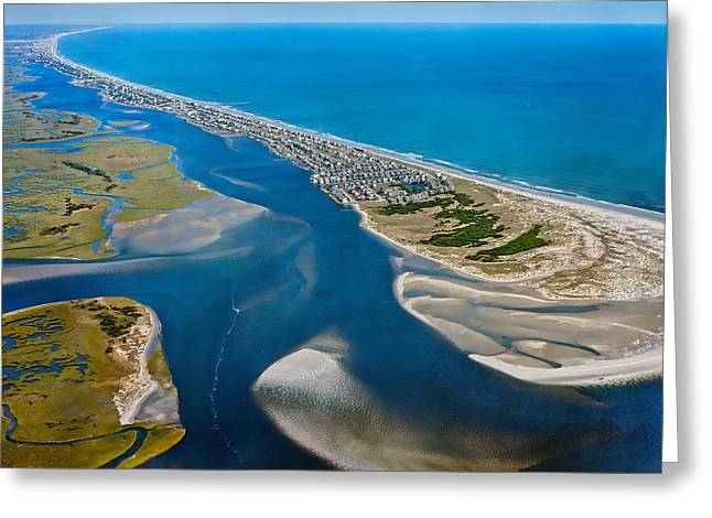 Topsail Island Greeting Cards - One Fine Island Greeting Card by Betsy C  Knapp