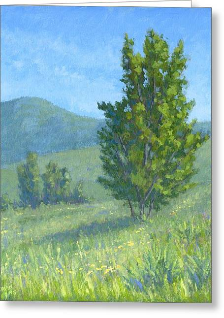 Jordan Paintings Greeting Cards - One Fine Spring Day Greeting Card by David King