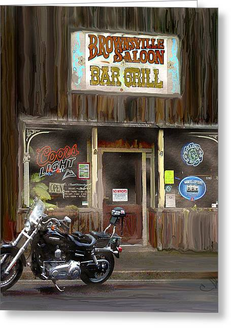 Saloons Greeting Cards - One for the Road Greeting Card by Dale Stillman