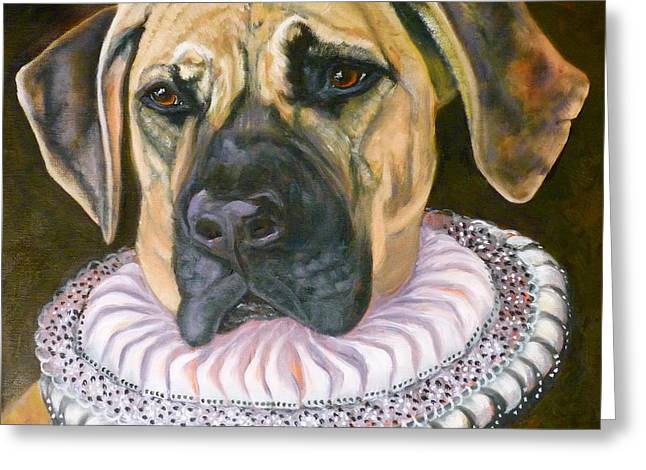 Old Masters Greeting Cards - One Formal Pooch Greeting Card by Susan A Becker