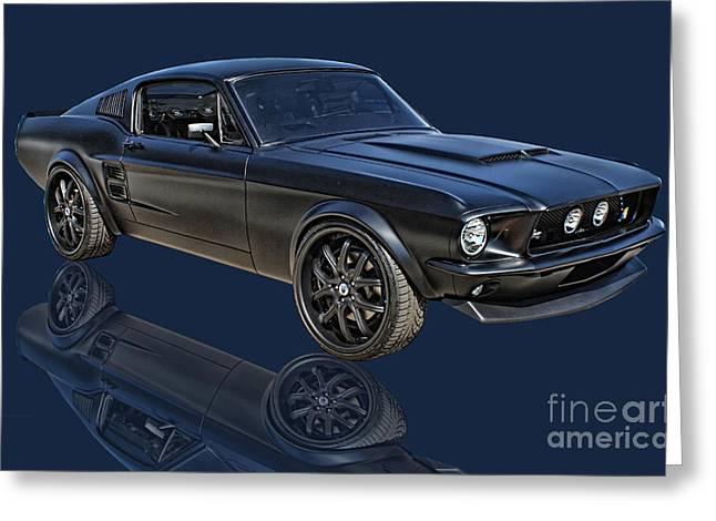 Microsoft. Greeting Cards - One Hot Stang Greeting Card by Tommy Anderson