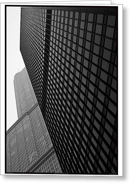 Historic Architecture Greeting Cards - One IBM Plaza - 05.28.10_023 Greeting Card by Paul Hasara