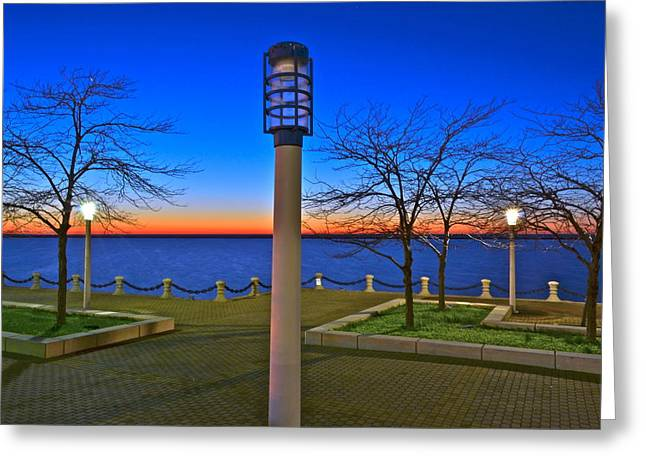 Marvelous View Greeting Cards - One if by Land Two if by Sea Greeting Card by Frozen in Time Fine Art Photography
