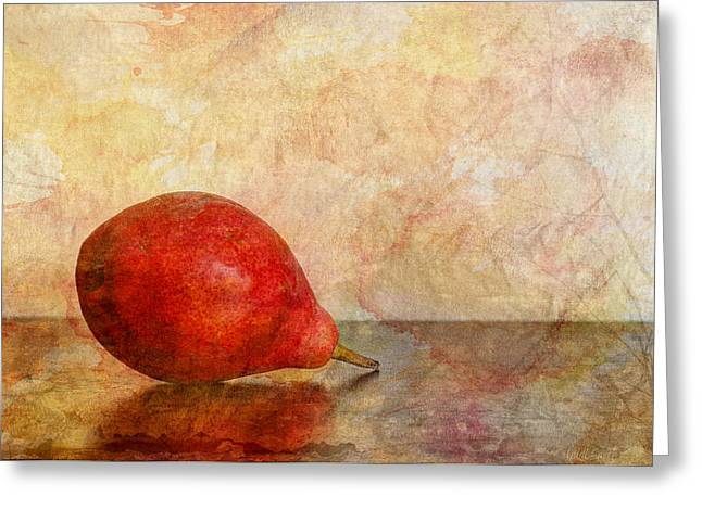 Pear Art Greeting Cards - One II Greeting Card by Heidi Smith