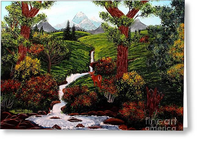 Babbling Paintings Greeting Cards - One Last Look Greeting Card by Barbara Griffin
