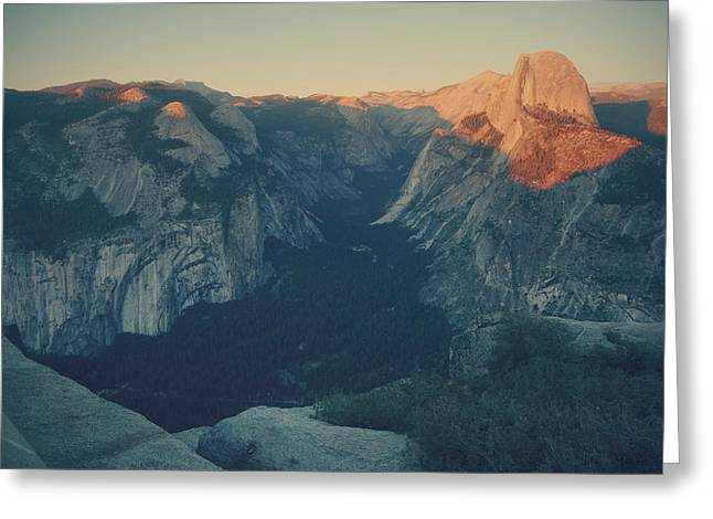 Half Dome Greeting Cards - One Last Show Greeting Card by Laurie Search