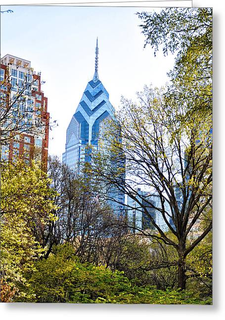 Rittenhouse Square Greeting Cards - One Liberty Place Greeting Card by Bill Cannon