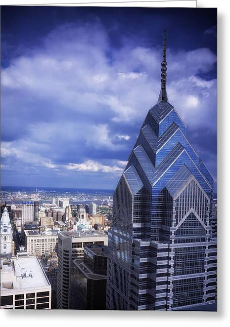 Liberty Place Greeting Cards - One Liberty Place - Philadelphia Greeting Card by Mountain Dreams