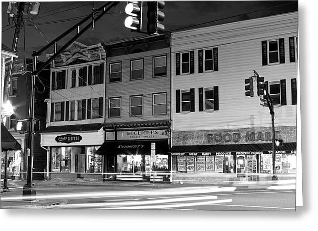 Chiara Greeting Cards - One Light Town Belvidere New Jersey Greeting Card by Rocco Chiara
