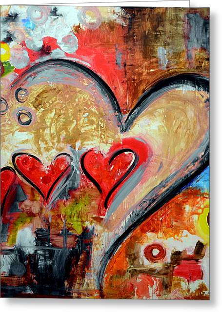 Christian work Paintings Greeting Cards - One Love One Destiny Greeting Card by Ivan Guaderrama