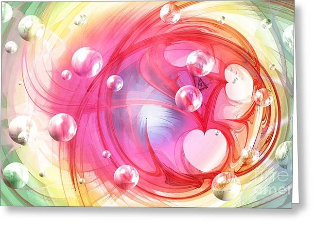 Peggy J Hughes Greeting Cards - One Love... One Heart... One Life Greeting Card by Peggy J Hughes