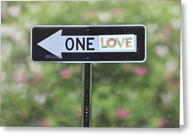 Outdoor Life Art Prints Greeting Cards - One Love Greeting Card by Terry DeLuco