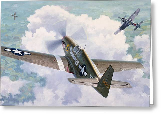 Spitfire Greeting Cards - One Man Air Force Greeting Card by Wade Meyers