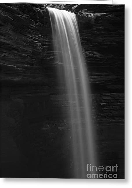 Waterfall Greeting Cards - One  Greeting Card by Marco Crupi