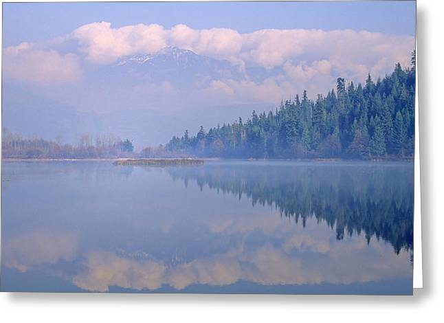 Mile One Greeting Cards - One Mile Lake, Near Pemberton, Bc In Greeting Card by Leanna Rathkelly