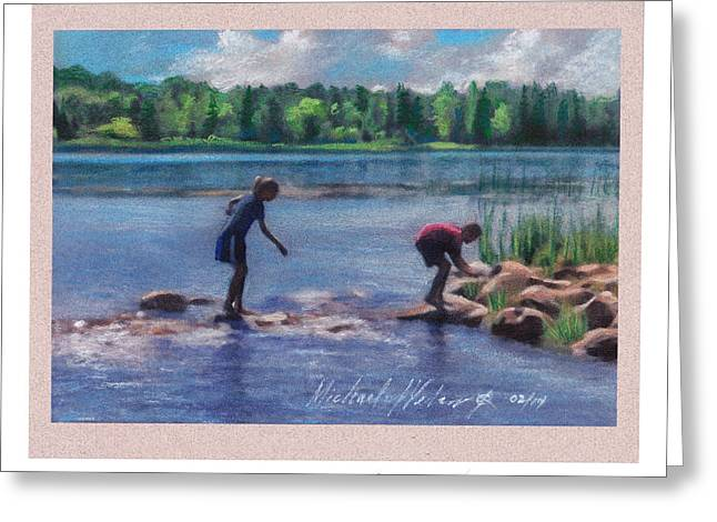 Rapids Pastels Greeting Cards - One Mississippi Two Mississippi Greeting Card by Michael  Weber
