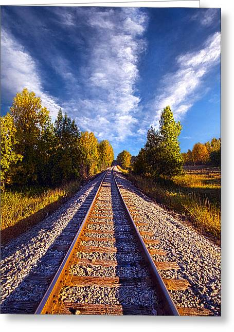 Railroad Greeting Cards - One More Ride Greeting Card by Phil Koch
