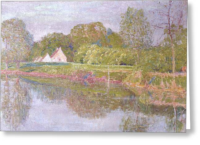 One Morning In May Greeting Card by Emile Claus