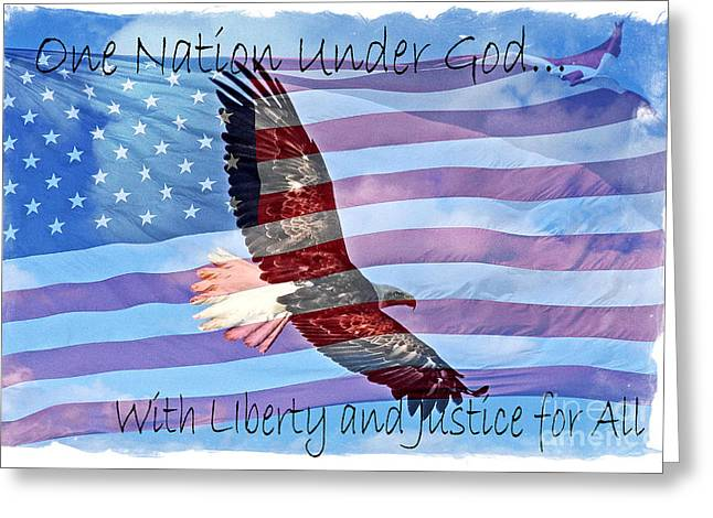 One Nation... Greeting Card by Bob Hislop