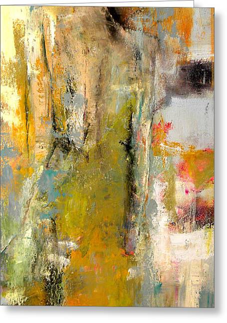 Fashion Abstract Greeting Cards - One Night in Paris Greeting Card by Lisa Moore