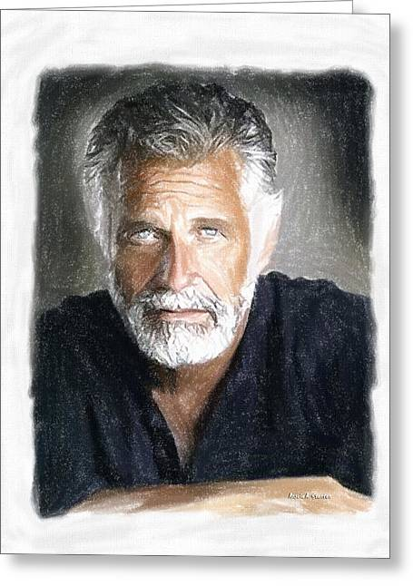 Gray Hair Greeting Cards - One of the Most Interesting Man in the World Greeting Card by Angela A Stanton