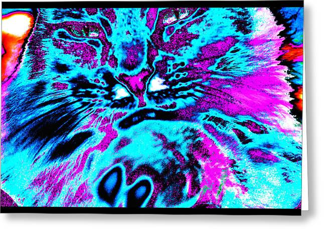Metaphysics Greeting Cards -  StarCat Greeting Card by Susanne Still