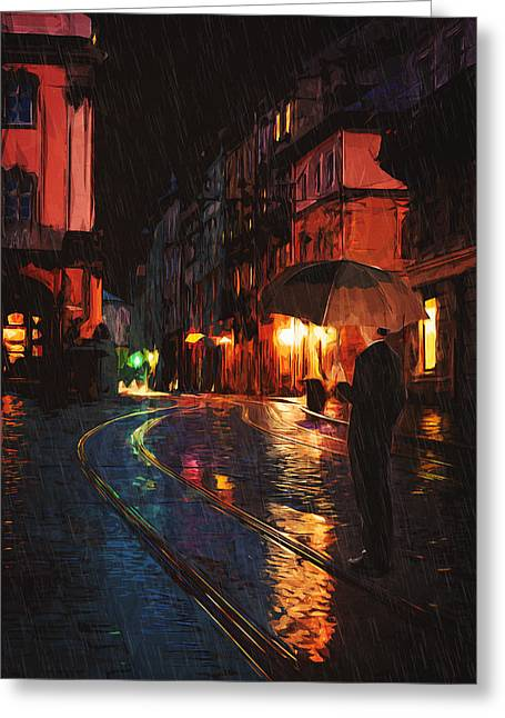 Impressionist Greeting Cards - One of these nights Greeting Card by Taylan Soyturk