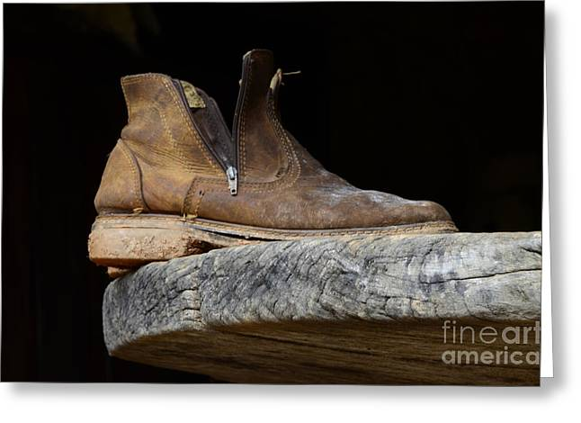 Old Boot Greeting Cards - One Old Boot Greeting Card by Bob Christopher