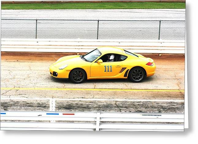 Racecar Number Greeting Cards - One One One Greeting Card by Stacy C Bottoms