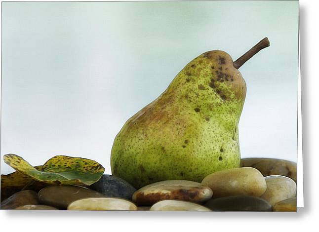 One Pear Greeting Cards - One Pear Greeting Card by Marion McCristall
