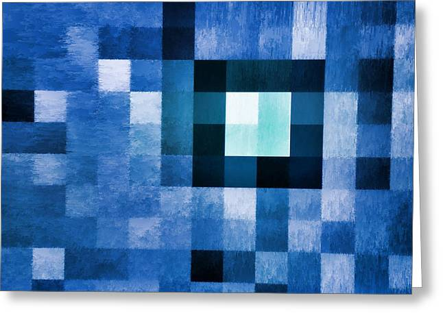 Tom Druin Digital Greeting Cards - Out Of Square...one Greeting Card by Tom Druin