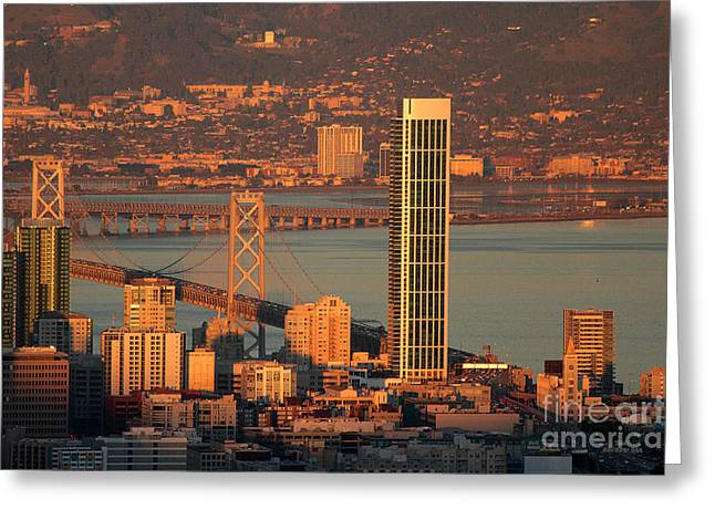 Rincon Greeting Cards - One Rincon Hill Greeting Card by Wernher Krutein