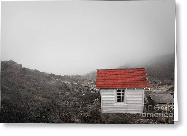 One Room In A Fog Greeting Card by Ellen Cotton
