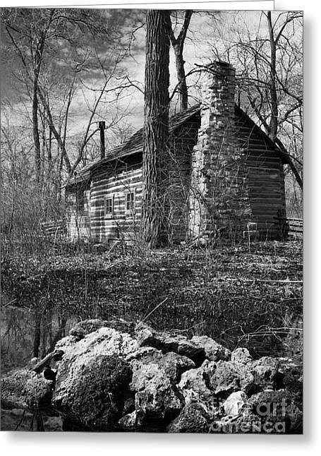 Abandoned School House. Greeting Cards - One Room School House Greeting Card by Marc Henderson