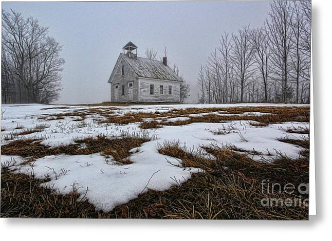 J. Harrison Greeting Cards - One Room Schoolhouse Greeting Card by Thomas J Martin