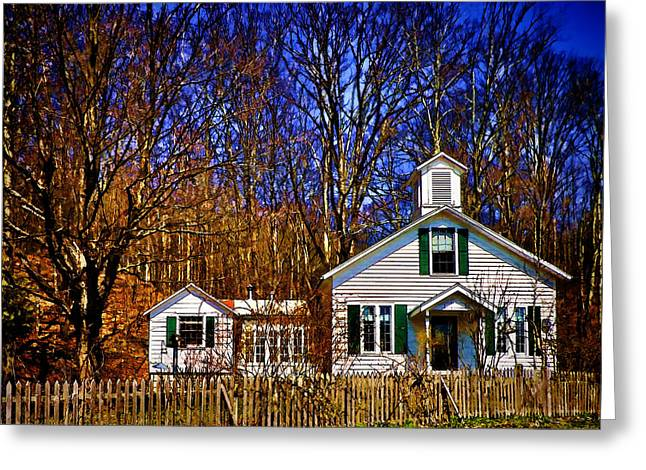 One Room Schoolhouse  Ulster County NY Greeting Card by Pamela Phelps
