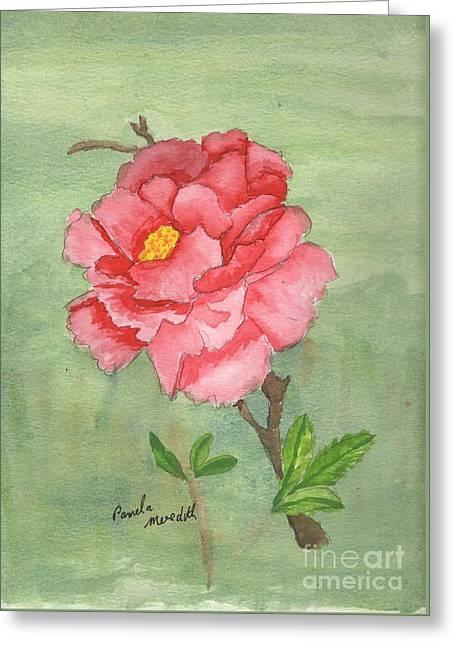 Pamela Meredith Greeting Cards - One Rose Greeting Card by Pamela  Meredith