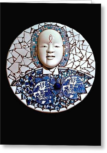 Tiled Sculptures Greeting Cards - One Greeting Card by SBrian Morgan