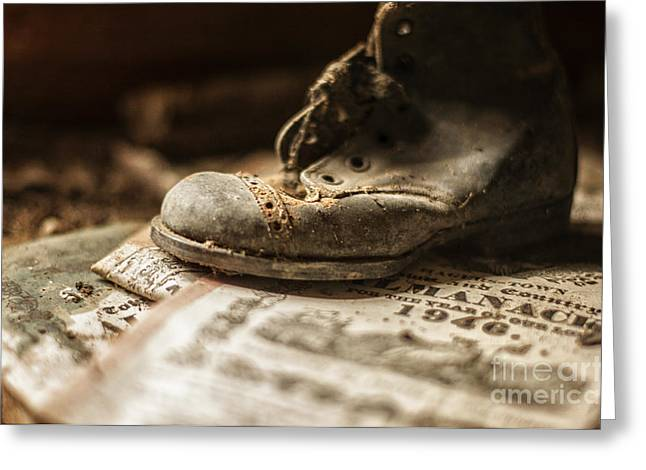 One Single Shoe Greeting Card by Terry Rowe