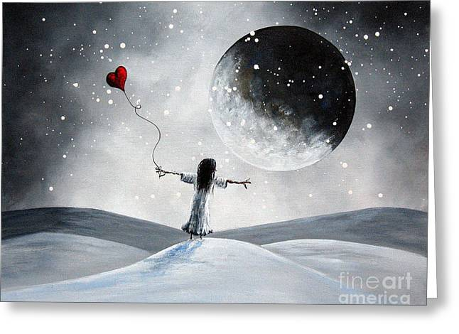 Floating Girl Greeting Cards - One Small Dream by Shawna Erback Greeting Card by Shawna Erback