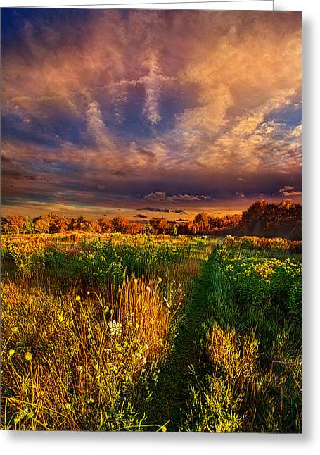 Hike Greeting Cards - One Step at a Time Greeting Card by Phil Koch